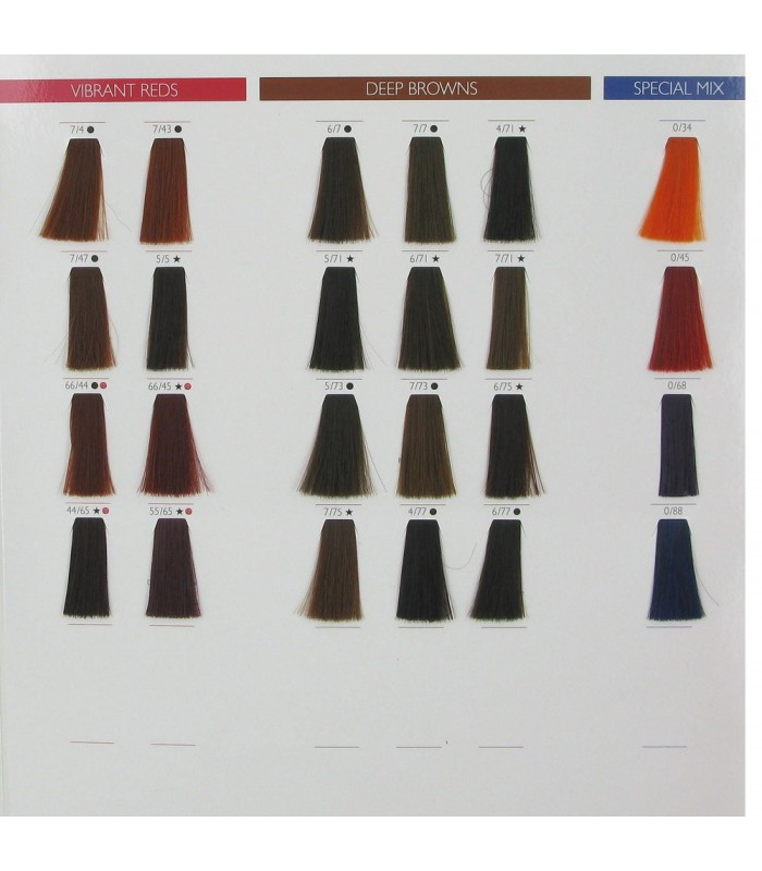 Swatches Color Touch 3 Wella Professionals Color Touch