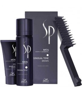 SP Men Gradual tone chatain Wella soin cheveux gris/blancs