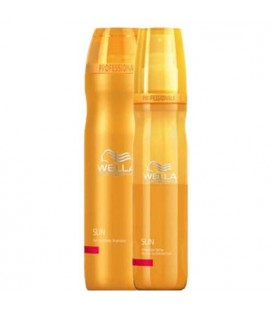 Pack Wella Sun shampoo + Spray protect Biphasé