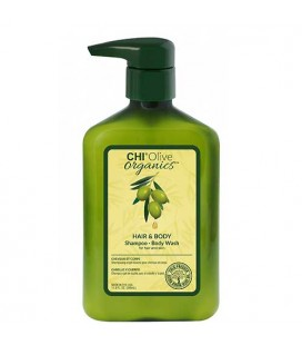 CHI Olive Organics Hair and Body shampoo and shower gel 340ml