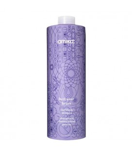 Amika Bust Your Brass shampoo cool blonde - Shampooing cheveux blonds polaires 1000ml