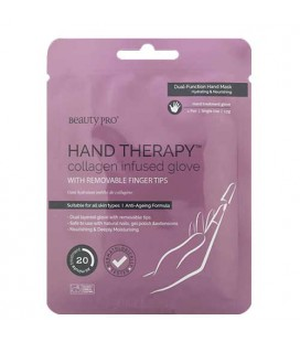 Beauty Pro Hand Therapy Moisturizing Hand Gloves Soaked with Collagen