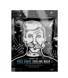 BARBER PRO Post Shave Cooling Mask masque apaisant et anti-age au collagène