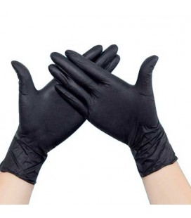 Pair of nitrile coloring gloves, size M