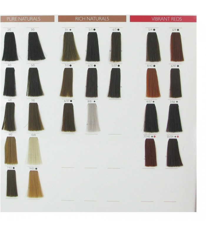 Wella Color Touch Chart Vibrant Reds Mountainstyleco