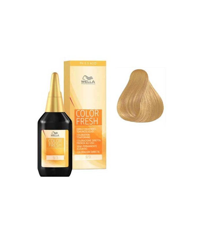 Wella Color Fresh Very Light Blonde Golden 9 3 Colouring