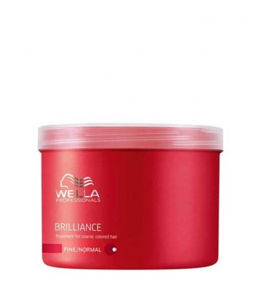 wella brilliance mask for fine to normal hair colored 500ml. Black Bedroom Furniture Sets. Home Design Ideas