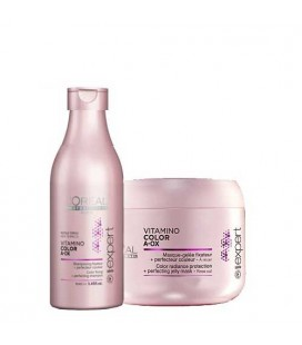 Pack vitamino color shampooing 100ml + masque 75ml